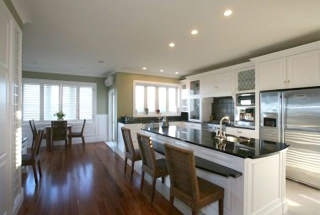 a view of a completed repaired kitchen