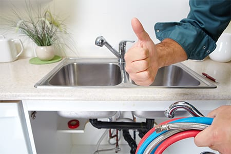 thumbs up for fixed sink